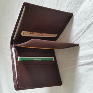 WALLET ELK/MOOSE LEATHER Braun oder schwarz