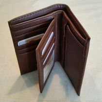WALLET ELK/MOOSE LEATHER Brown